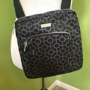 Baggallini black print crossbody bag